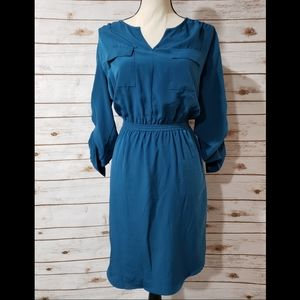 Mossimo Dark Teal Midi Dress - Size Large